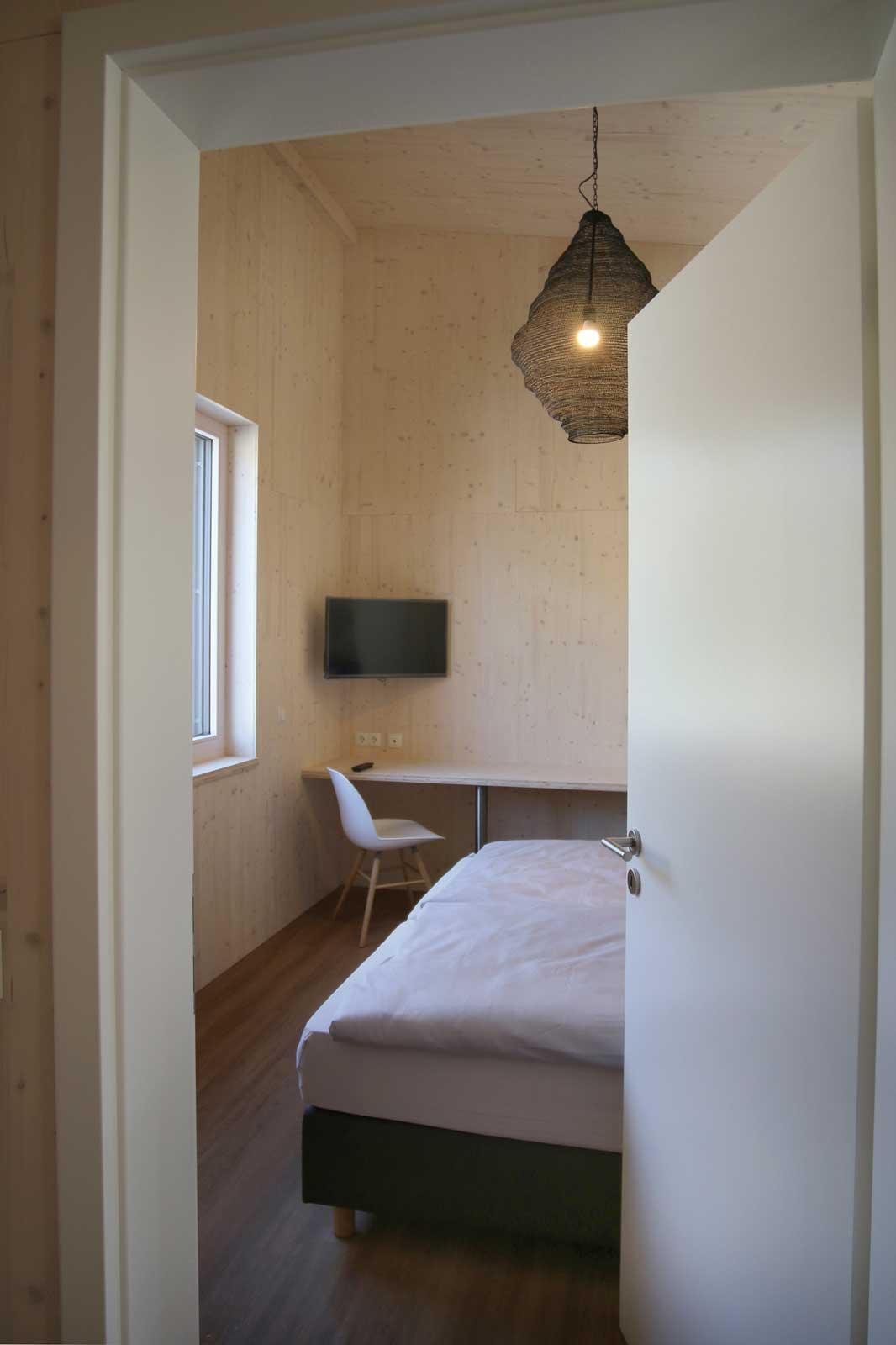 Schlafzimmer der Steigerwald Apartmens – Ferienwohnungen im Herzen Frankens.