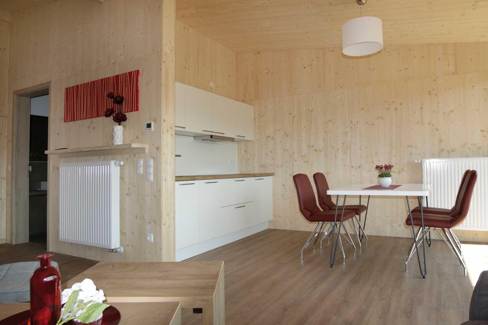 Küchen- und Essbereich in den Steigerwald Apartmens – Ferienwohnungen im Herzen Frankens.