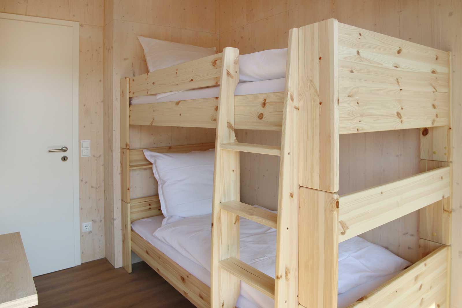 Etagenbett im Kinderzimmer der Steigerwald Apartmens – Ferienwohnungen im Herzen Frankens.